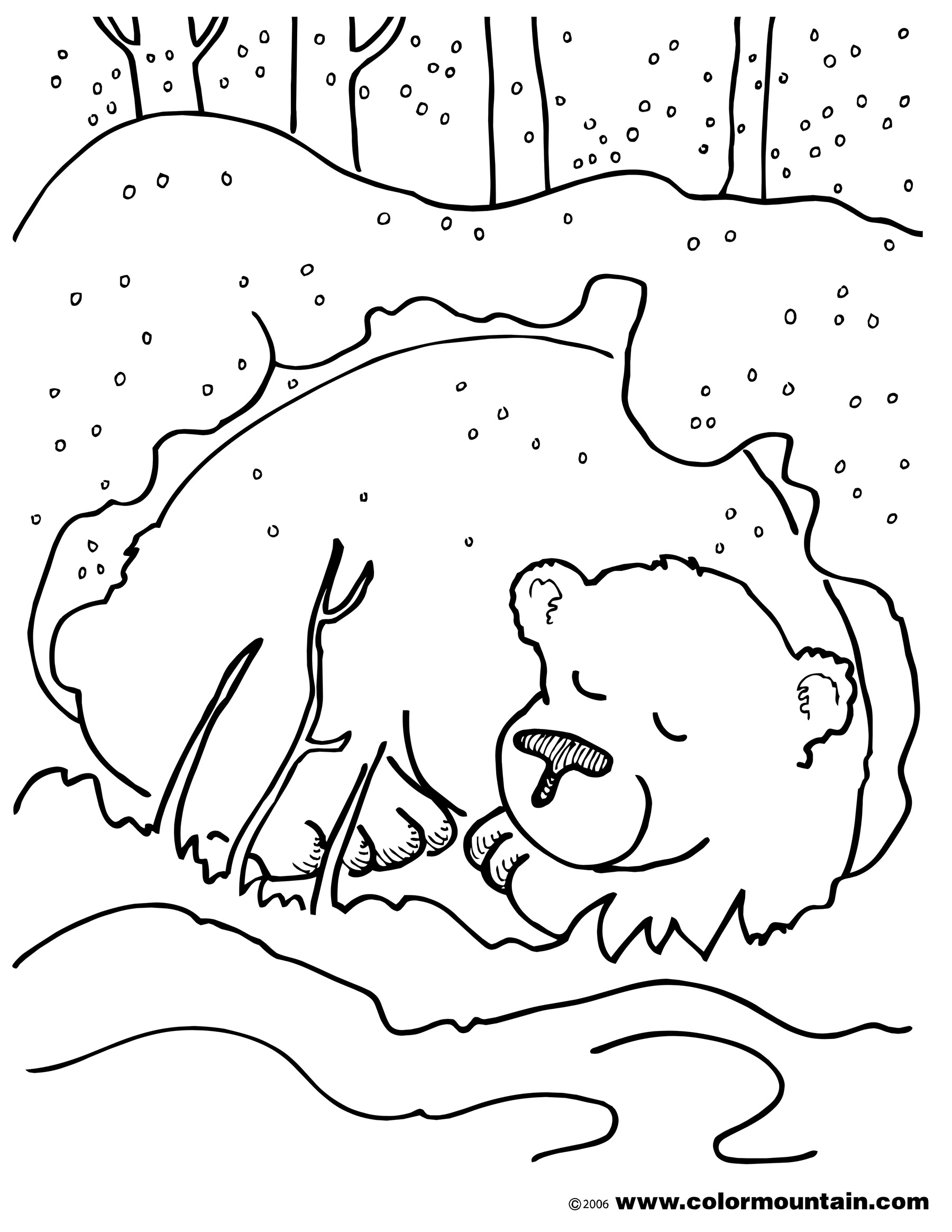 Brown bear coloring pages download