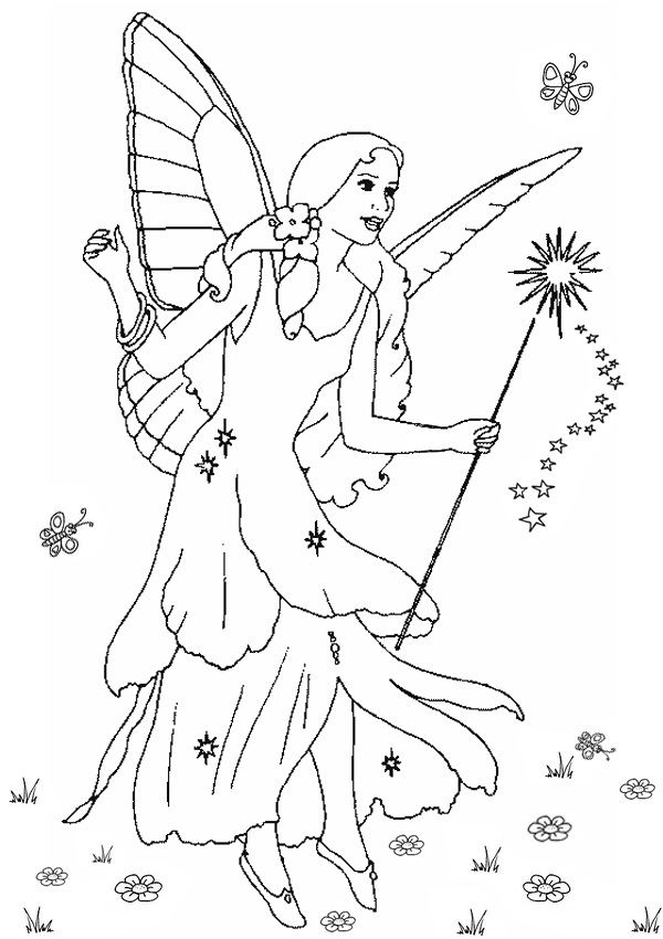 christmas fairy coloring pages download and print for free. Black Bedroom Furniture Sets. Home Design Ideas