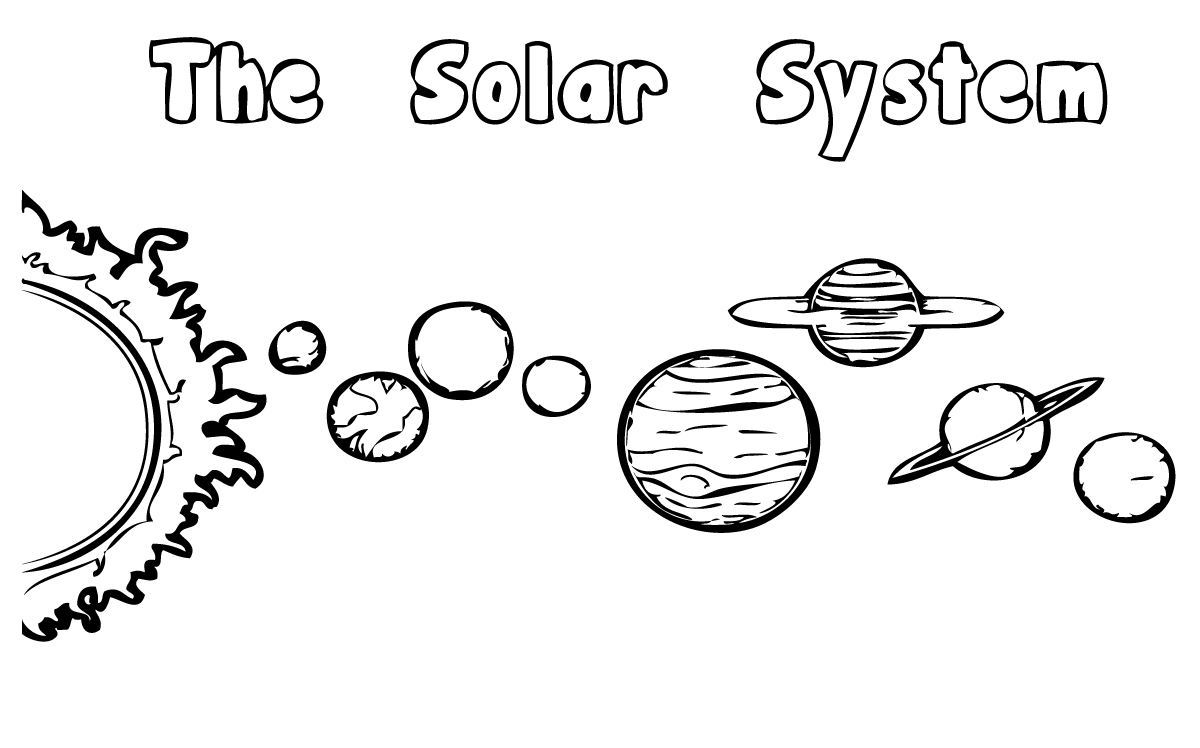Solar system coloring pages to