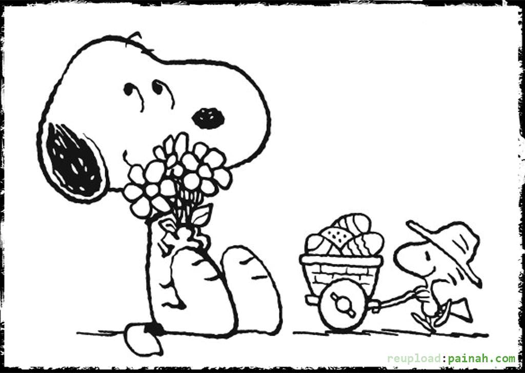 Snoopy coloring pages to download and print for free for Snoopy coloring page