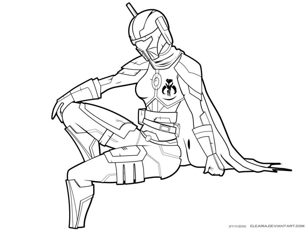 Ausmalbilder Zak Storm: Mandalorian Coloring Pages Download And Print For Free