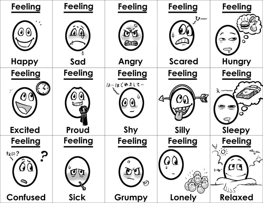 Emotions and feelings coloring pages download and print for Emotions coloring pages for preschoolers