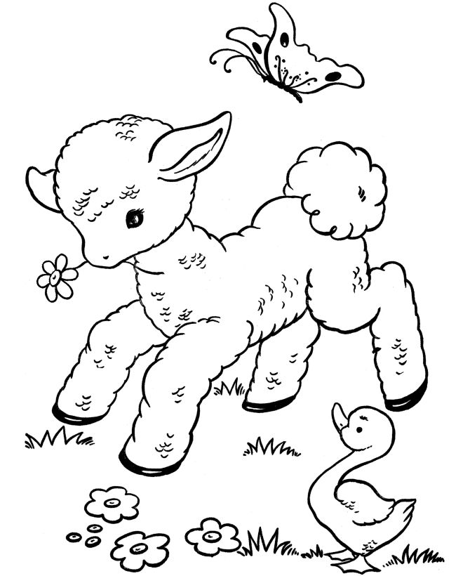 easter pages to print and color - easter and spring coloring pages download and print for free