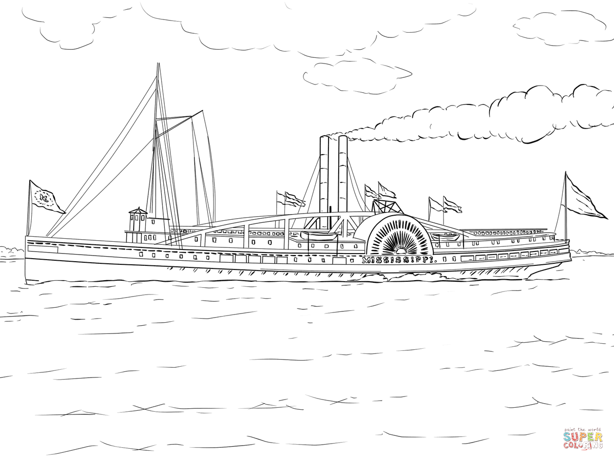nile boats coloring pages - photo#20