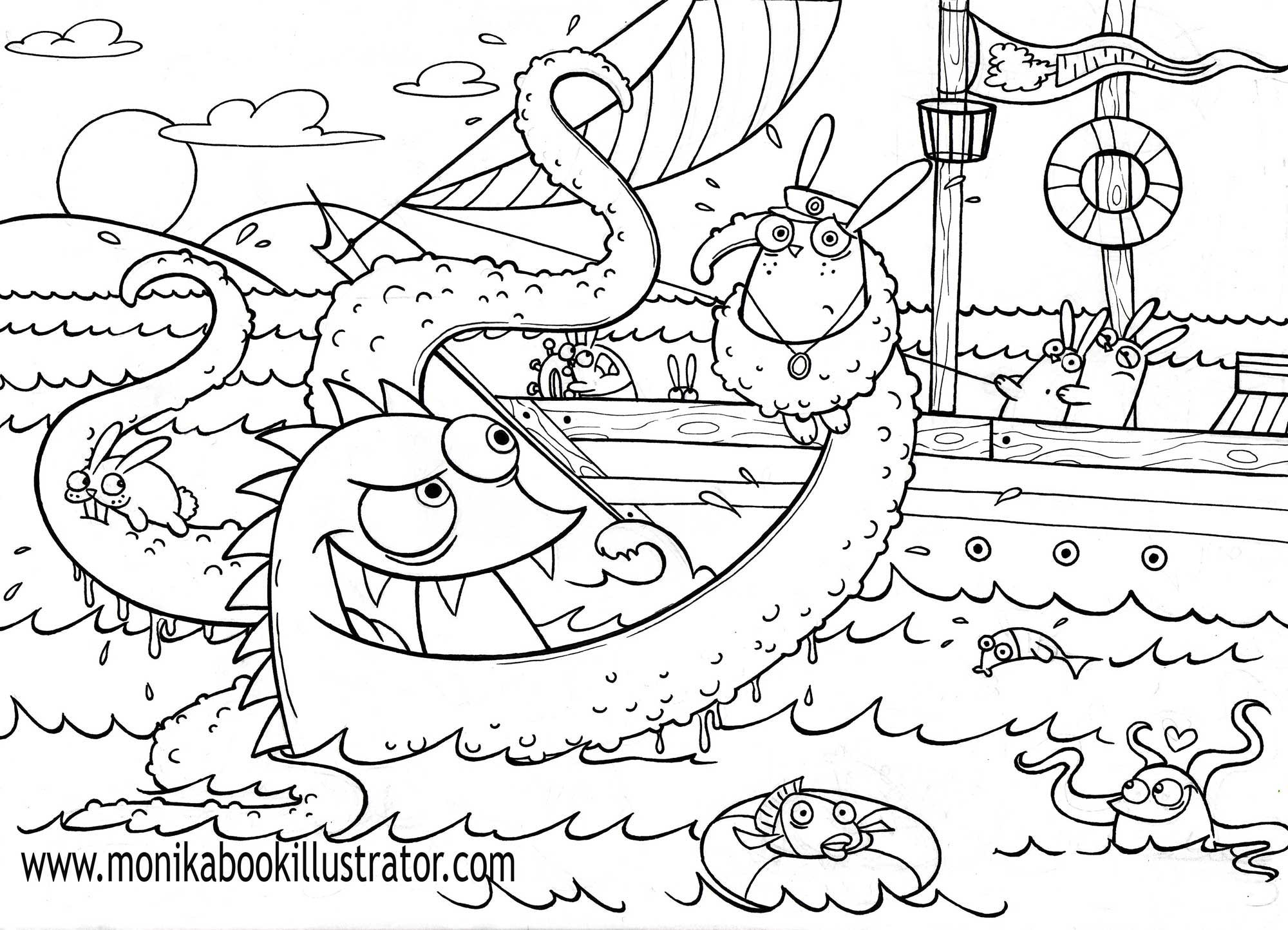 Sea coloring pages to download