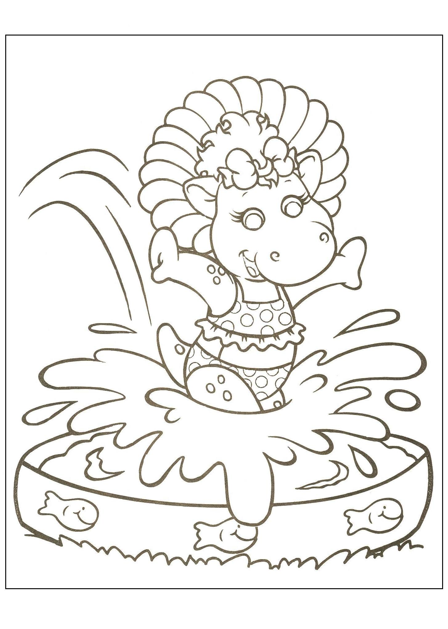 Baby bop coloring pages download