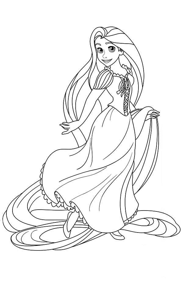 tangled coloring pages 0 disney printables for kids to