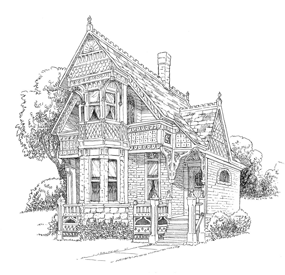 victorian mansion coloring pages - photo#8