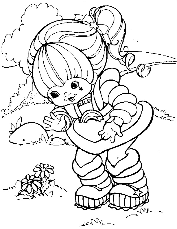 Rainbow brite coloring pages to download and print for free