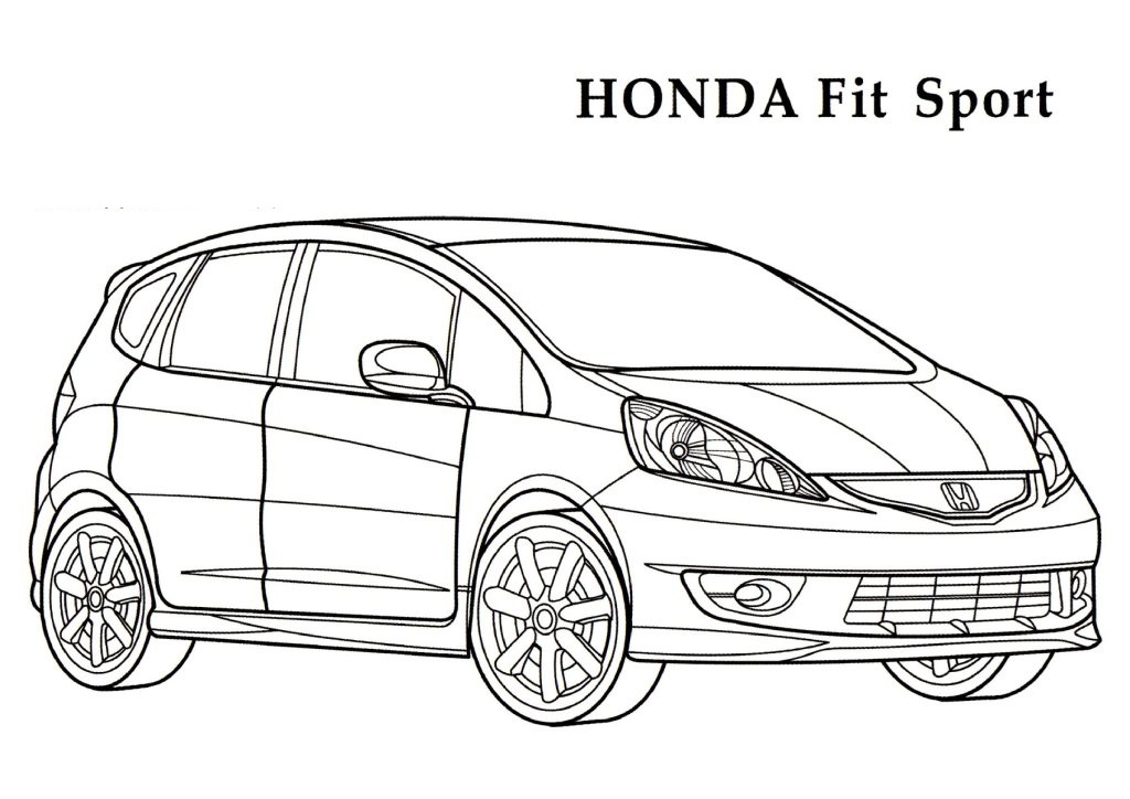 Coloring: Honda Coloring Pages Download And Print For Free