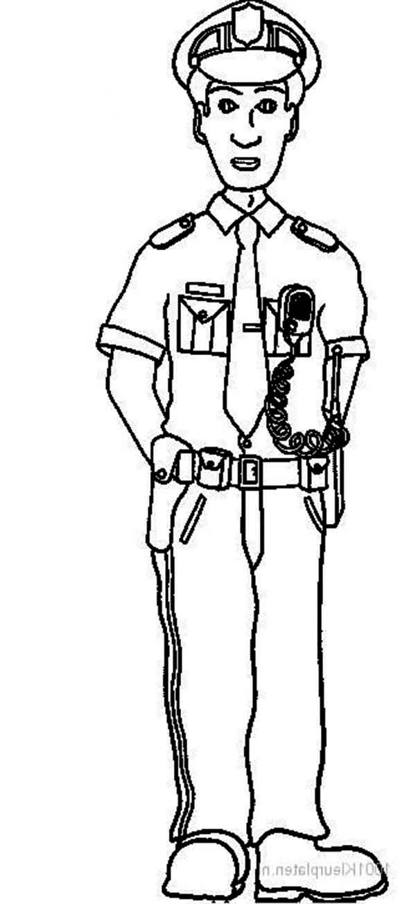 childs coloring pages about police - photo#25