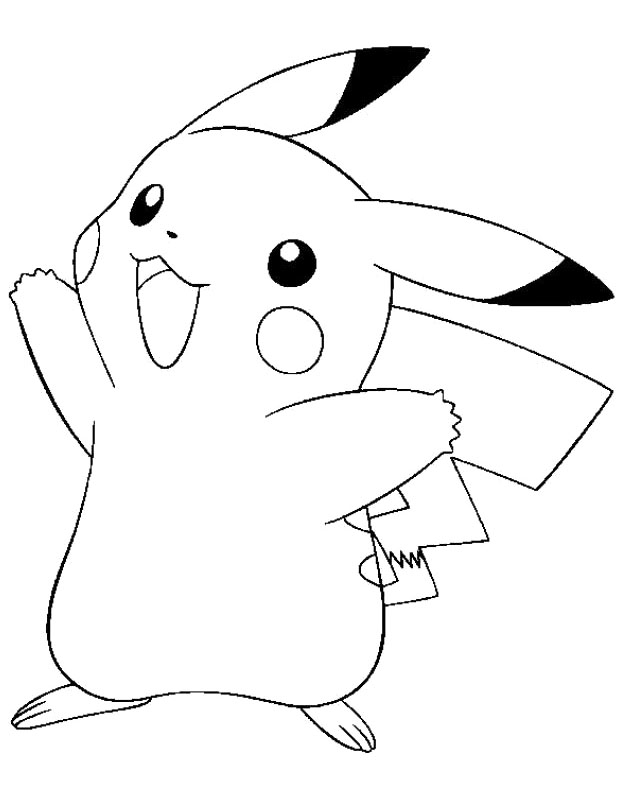 It's just a picture of Soft Coloring Pages Of Pikachu