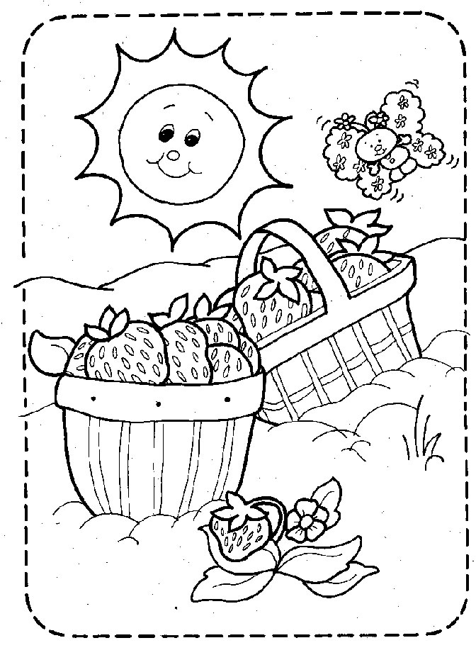 picnic coloring pages to and print for free
