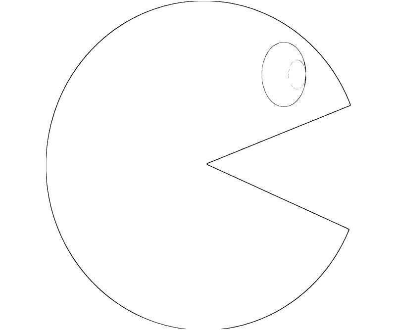 Pac man coloring pages to download and print for free