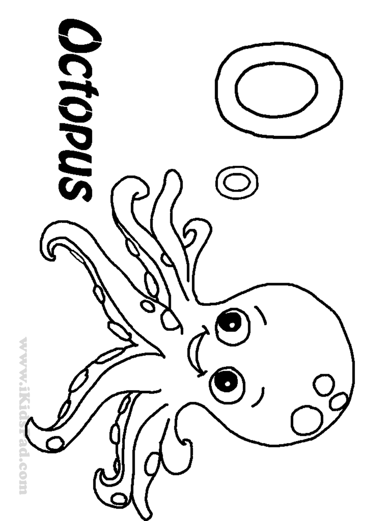 Octopus coloring pages to download