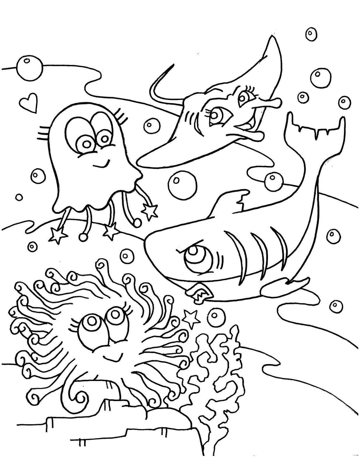coloring pages of the ocean - photo#6