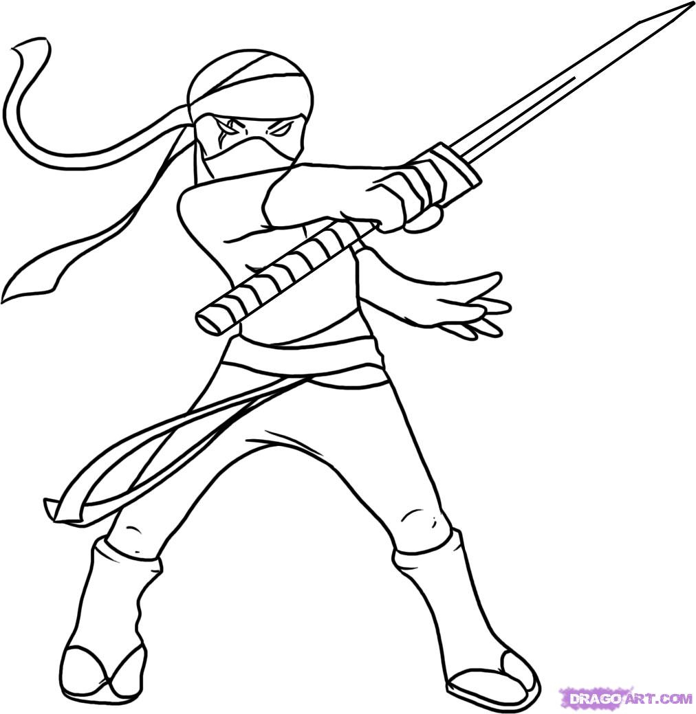This is a picture of Priceless Ninja Coloring Book
