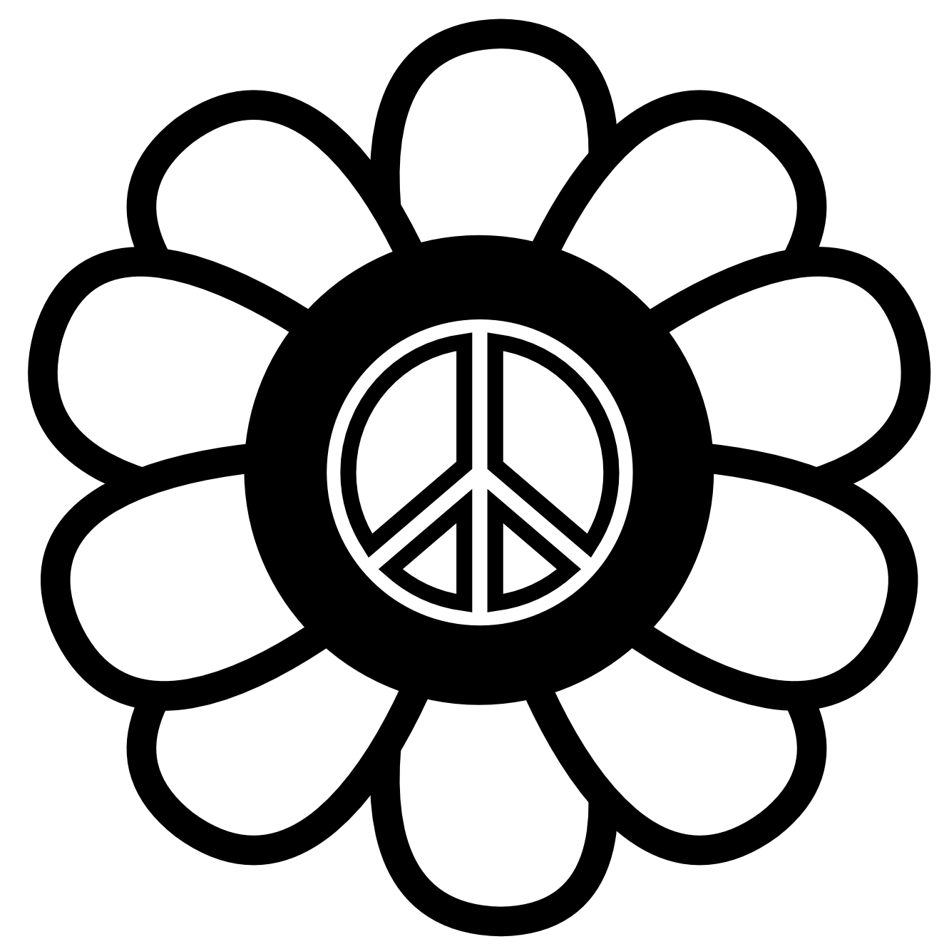 It's just an image of Accomplished Peace Sign Coloring Page