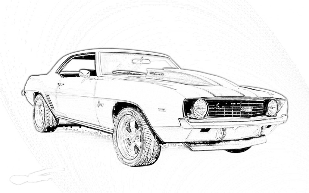 muscle car coloring pages printable - photo#3
