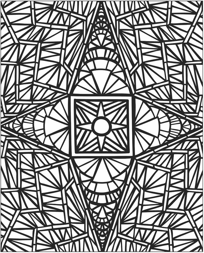 free mosaic coloring pages to print for kids download print and color