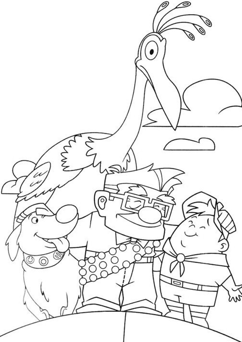 Up coloring pages to download and print for free