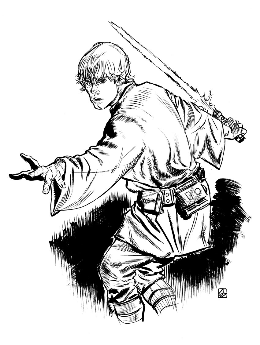 Luke skywalker coloring pages to download and print for free