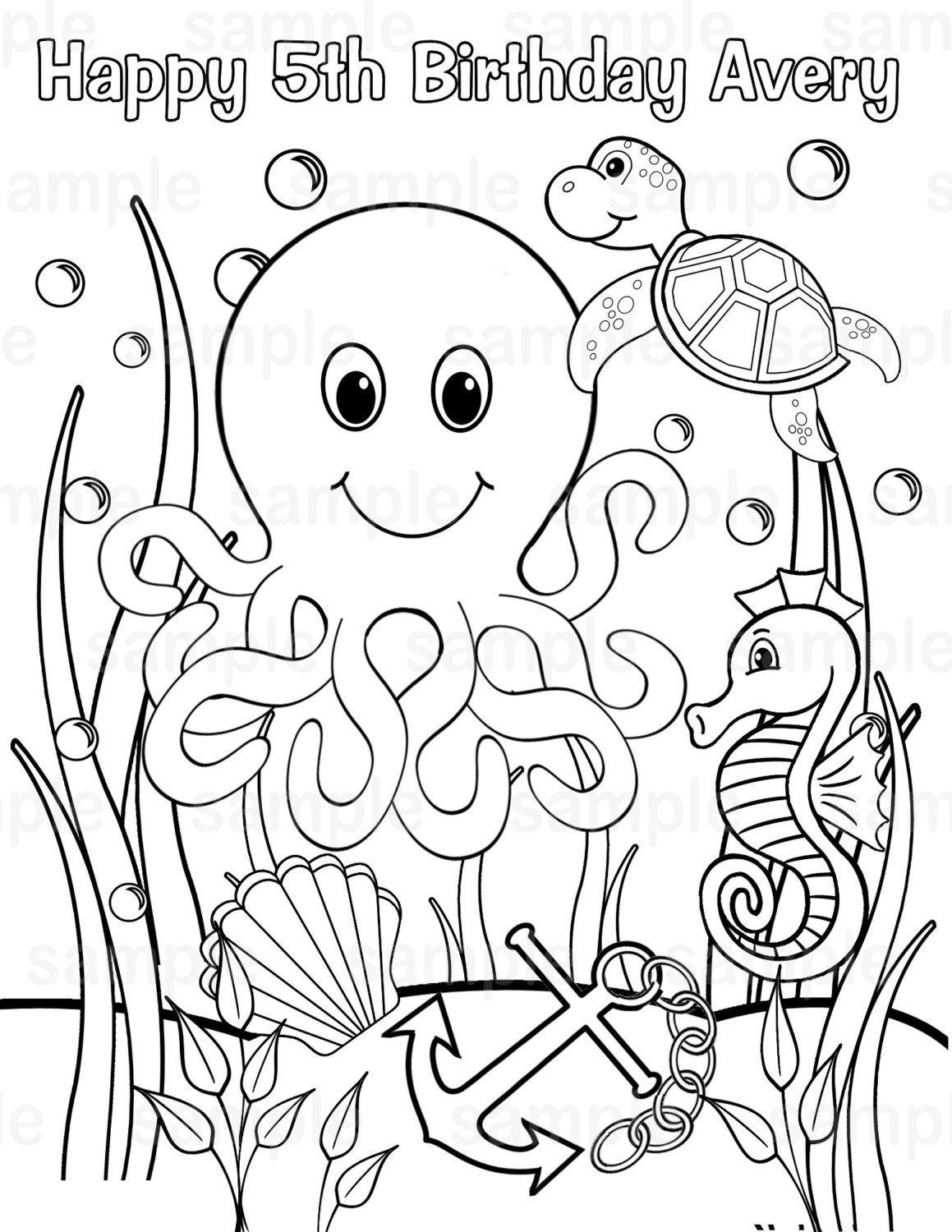 uner the sea coloring pages - photo#7