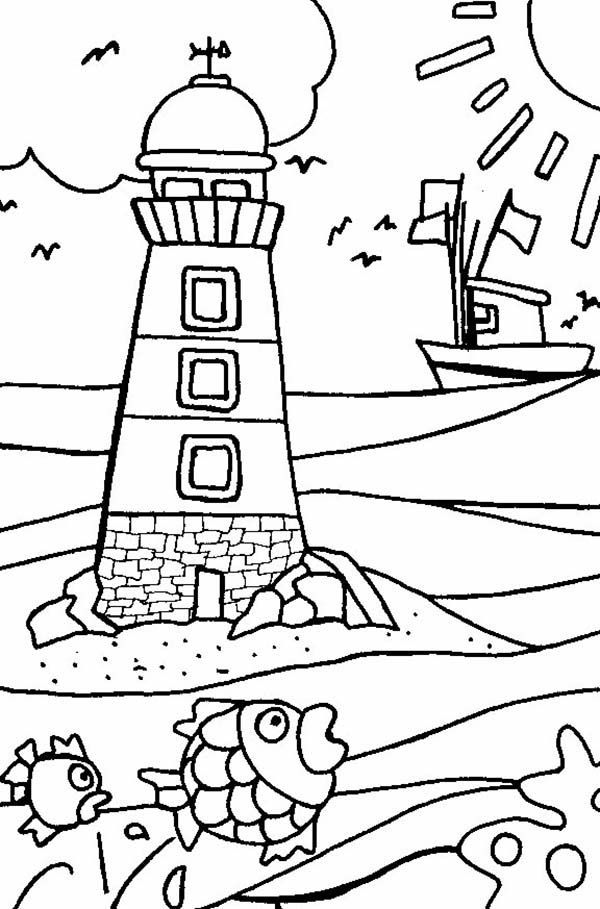 lighthouses coloring pages - photo#28