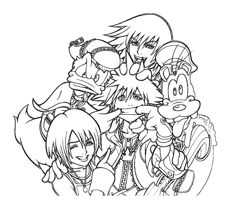 It is a graphic of Fan kingdom hearts coloring book