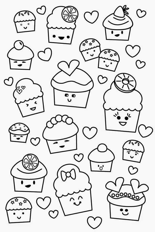 Colouring Pages Print : Kawaii coloring pages to download and print for free