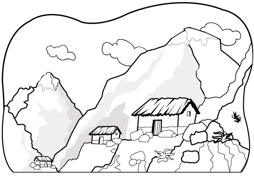 Mountain Coloring Pages To And Print For Free Printable