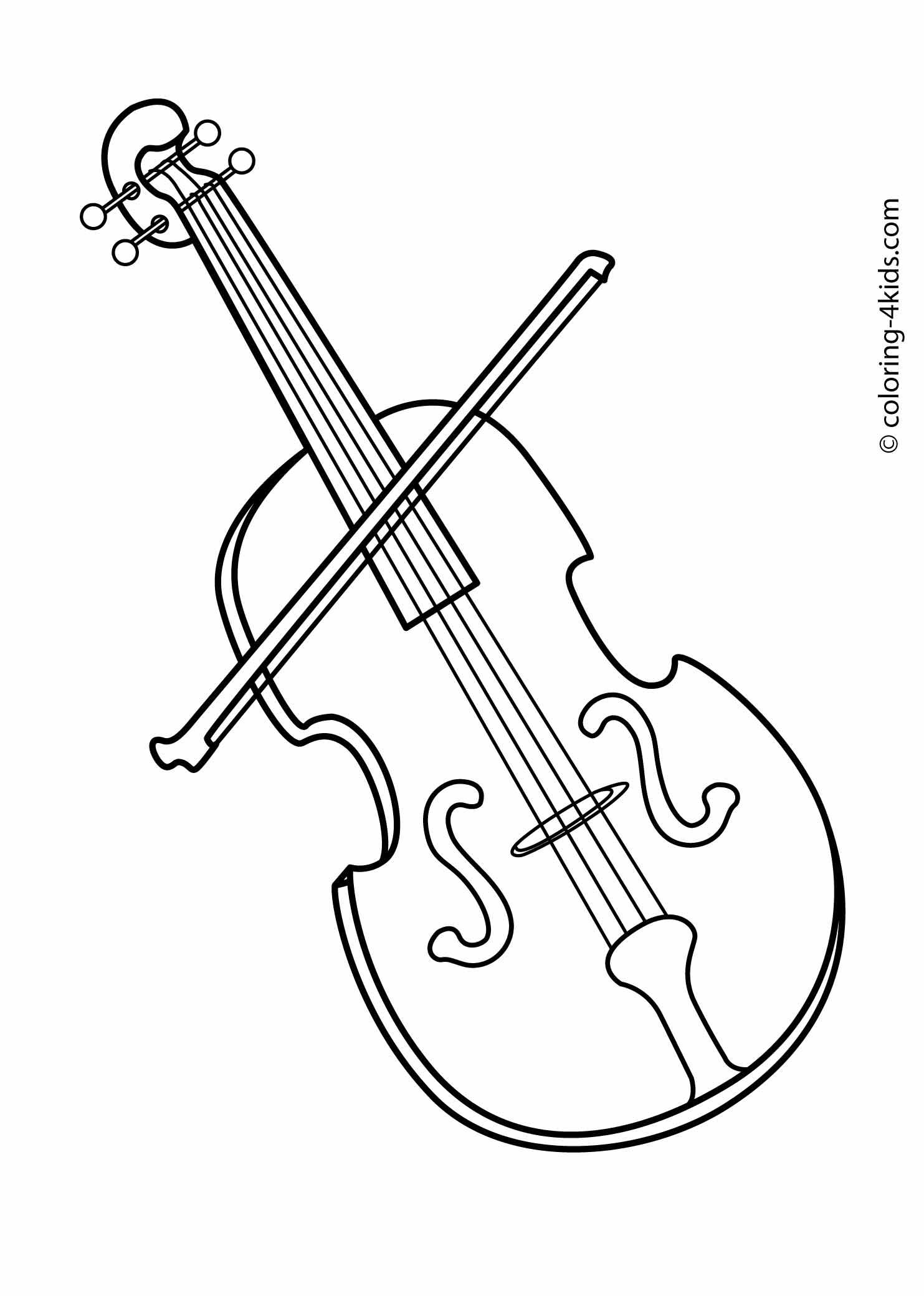 Violin Coloring Pages - Kidsuki