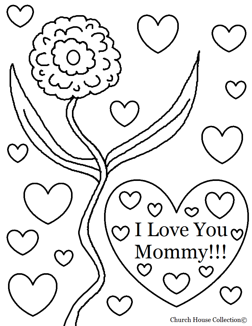 I love you mom coloring pages to