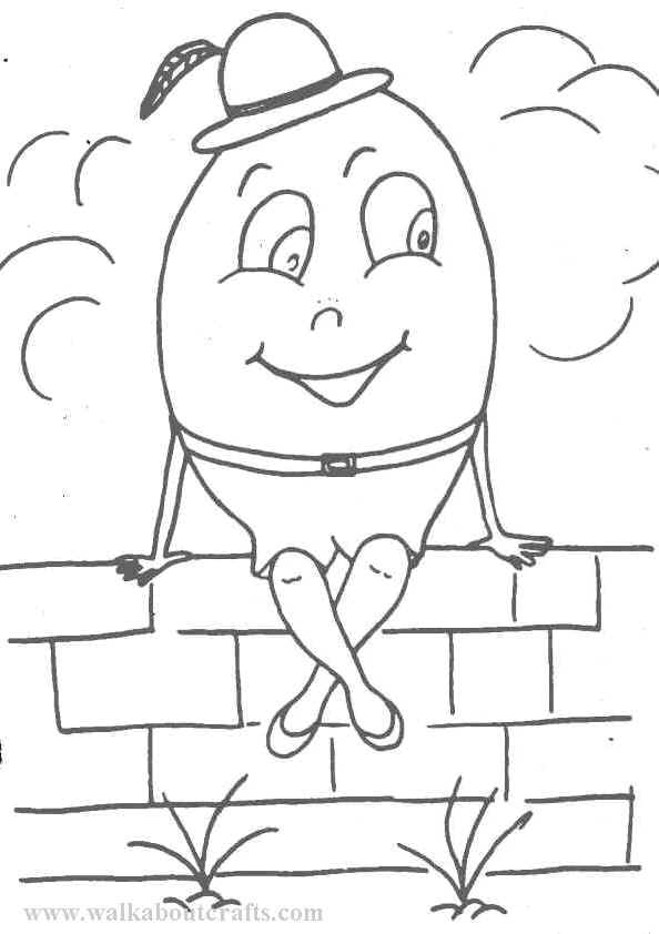 Humpty dumpty coloring pages to