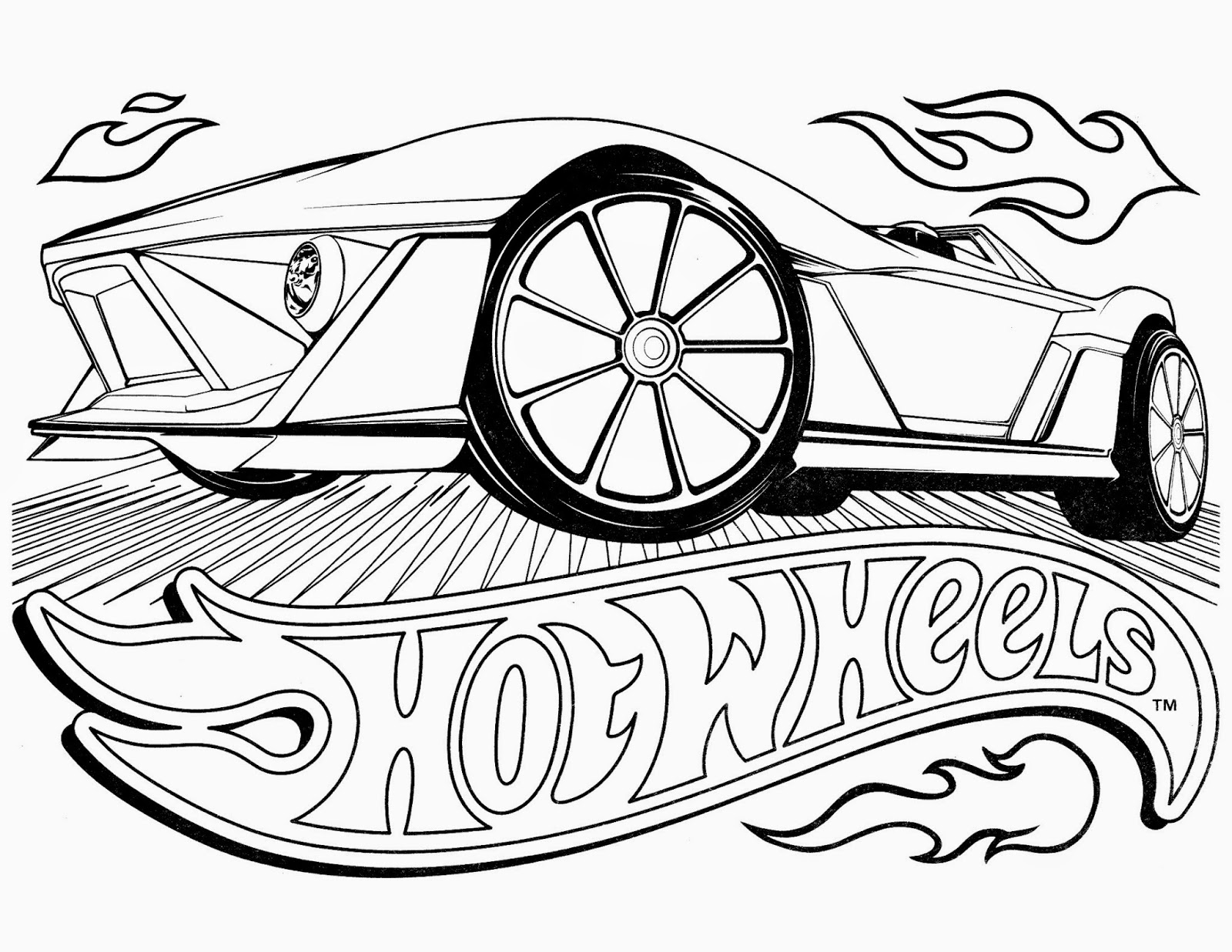 Hot Wheel Coloring Pages on muscle car drawings