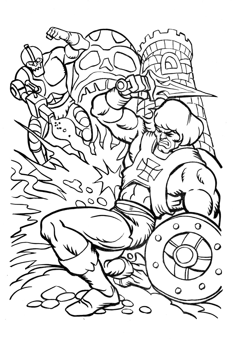 james eatock s the he man and she ra coloring - Thunder Cats Coloring Book Pages