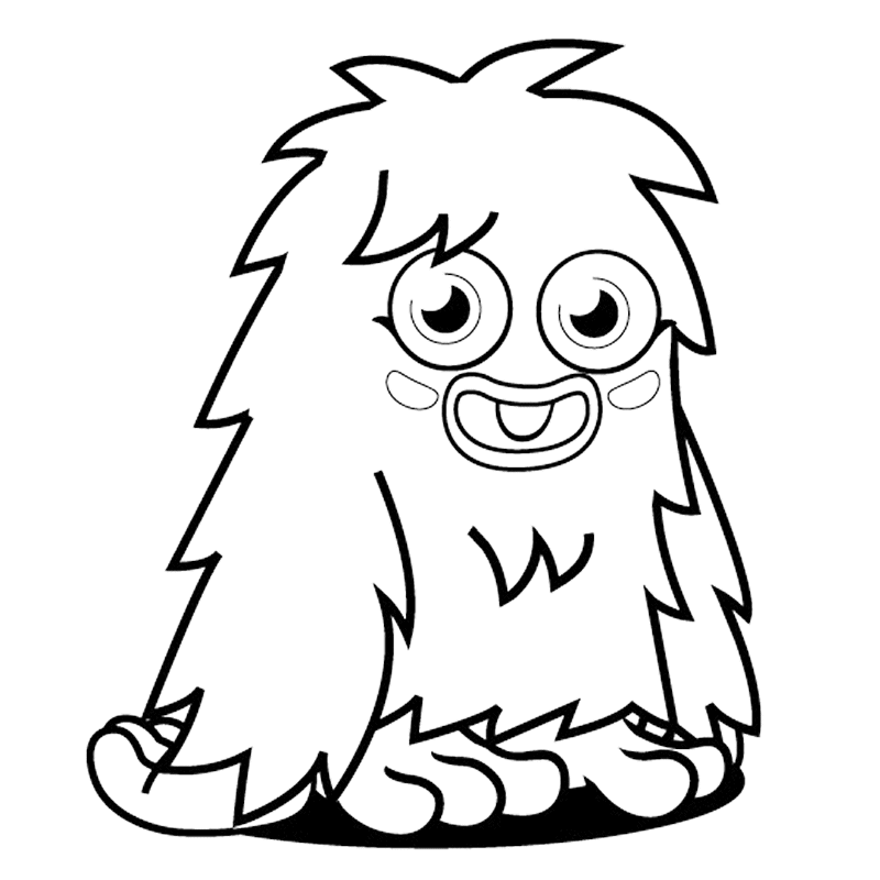 It's just a graphic of Geeky Monster Coloring Pages for Kids