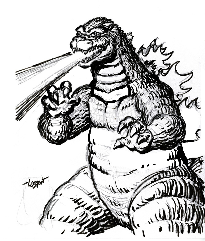 It's just a photo of Gorgeous Godzilla Coloring Sheets