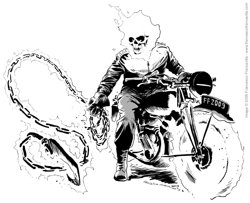 Ghost rider coloring pages to download