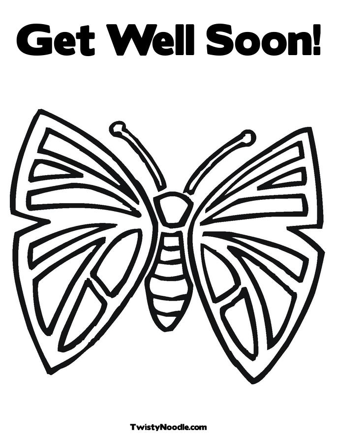 get well cards coloring pages - photo#33