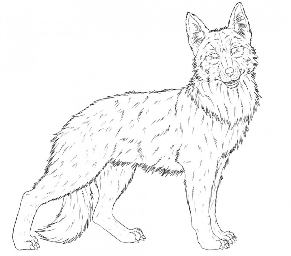 german shepherd coloring pages - German Shepherd Coloring Pages Free 3