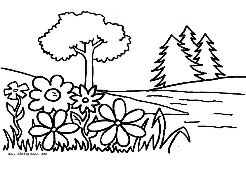 Garden coloring pages to download