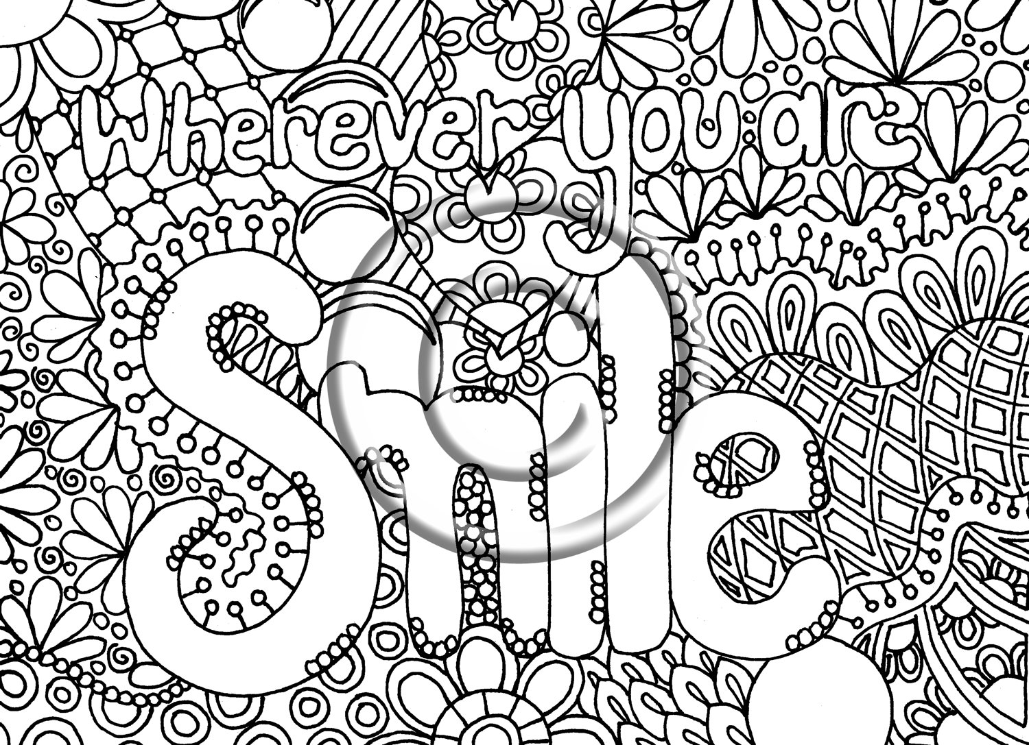 creative coloring pages for teens - photo#22