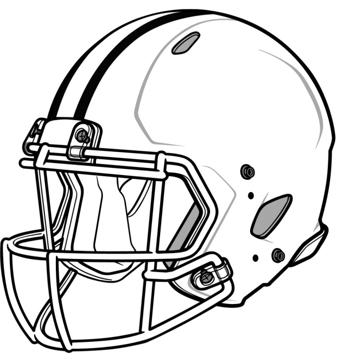 helmets coloring pages | Football helmet coloring pages to download and print for free