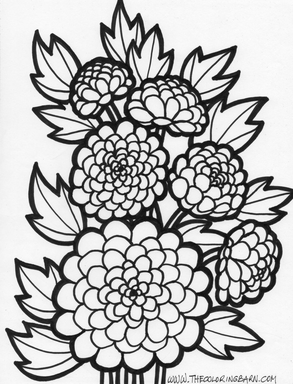 Colouring in sheets of flowers - Floral Coloring Pages To Download And Print For Free