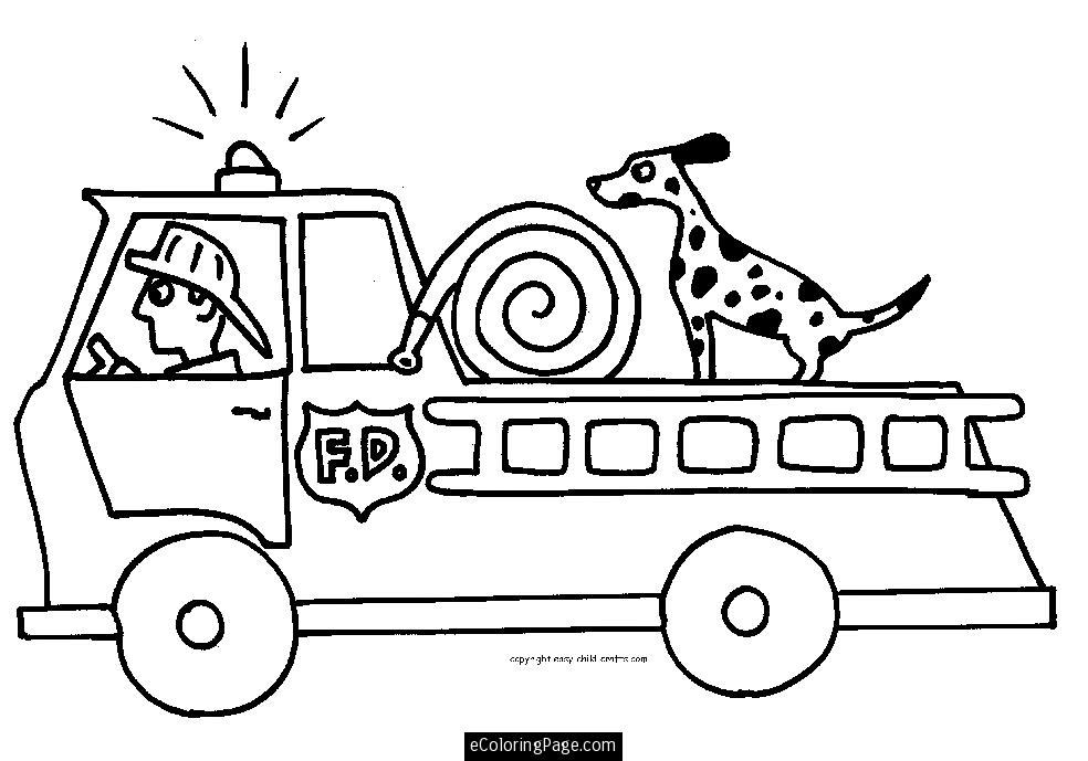Fireman coloring pages to download and print for free