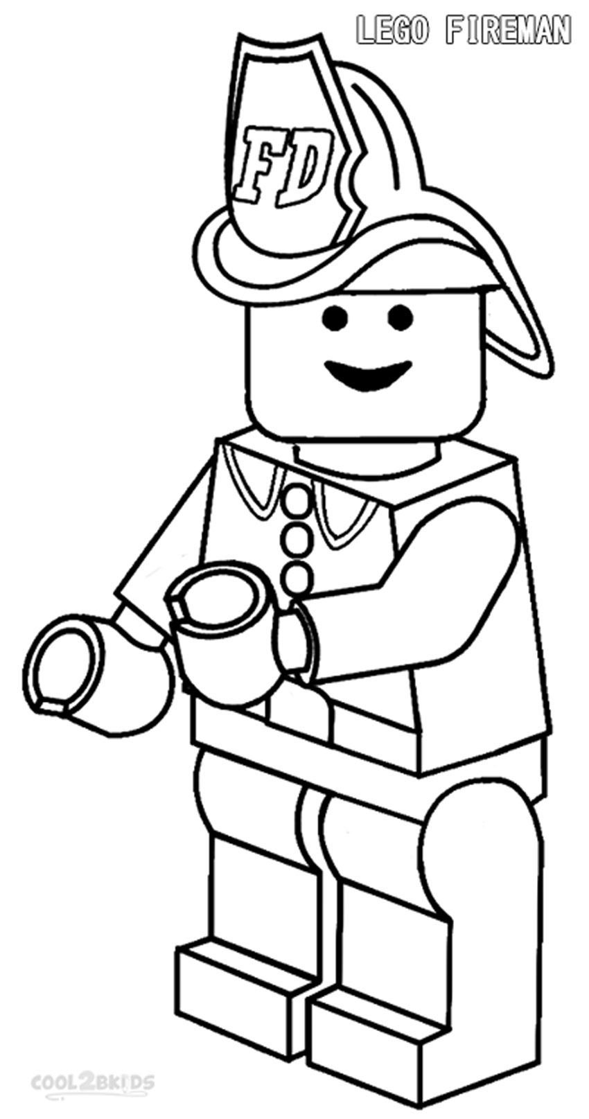 printable coloring pages fireman - photo#15