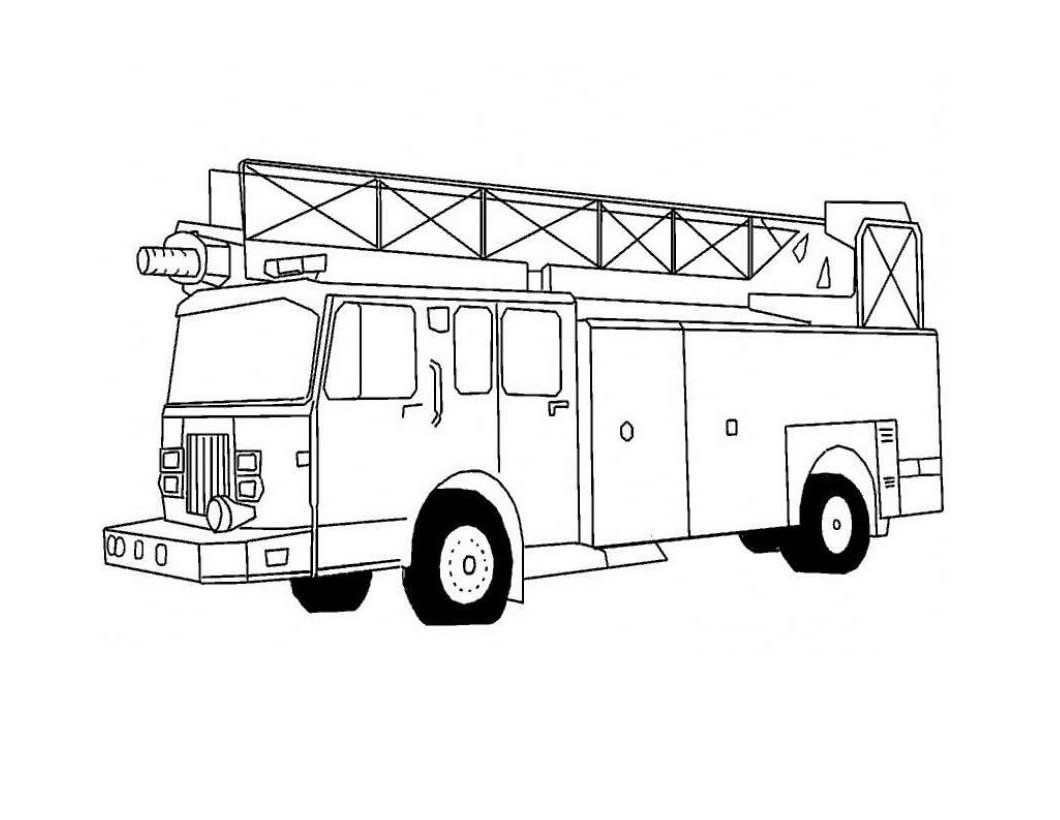 fire truck realistic coloring pages - photo#8