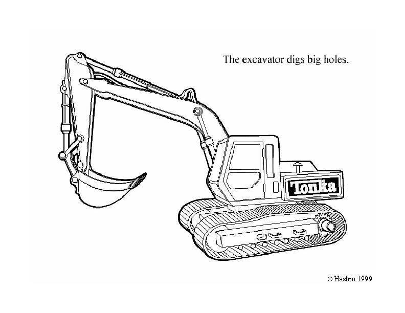 excavator coloring pages to print - photo#33