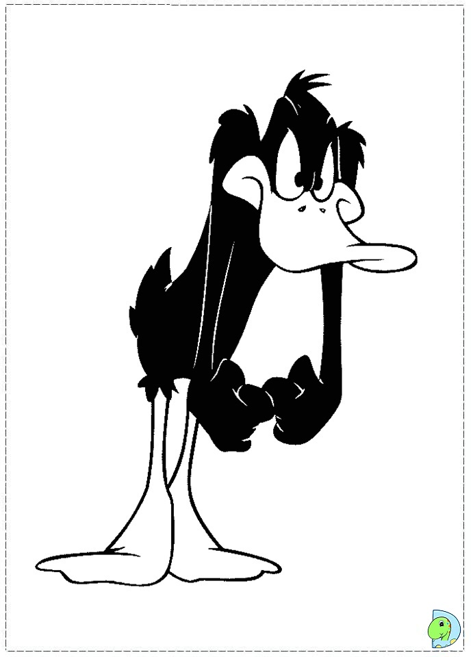 daffy duck printable coloring pages - photo#30
